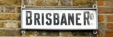 Street sign for Brisbane Road